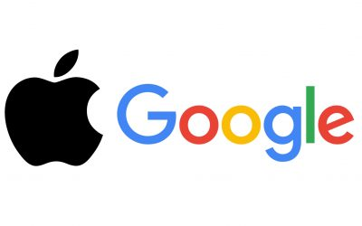 Apple and Google logos